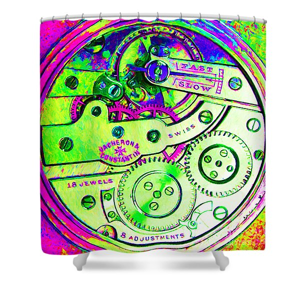 Time In Abstract 20130605m108 Square Shower Curtain by Wingsdomain Art and Photography