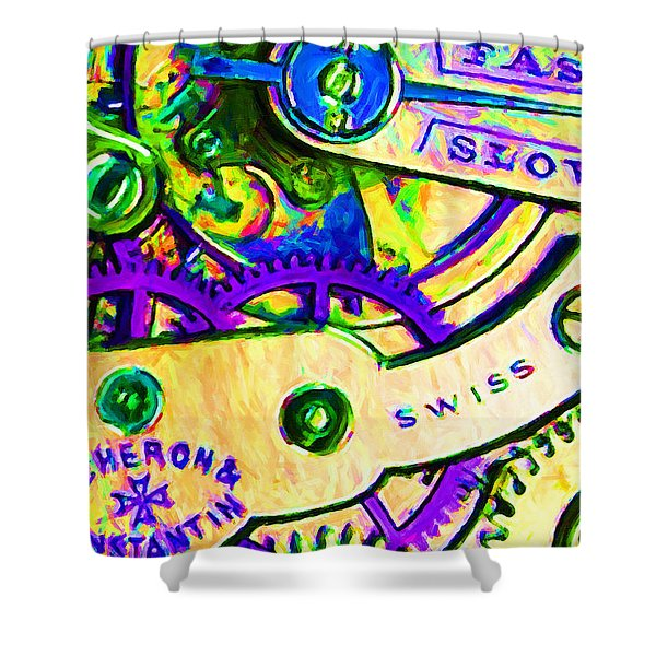 Time In Abstract 20130605m144 Shower Curtain by Wingsdomain Art and Photography