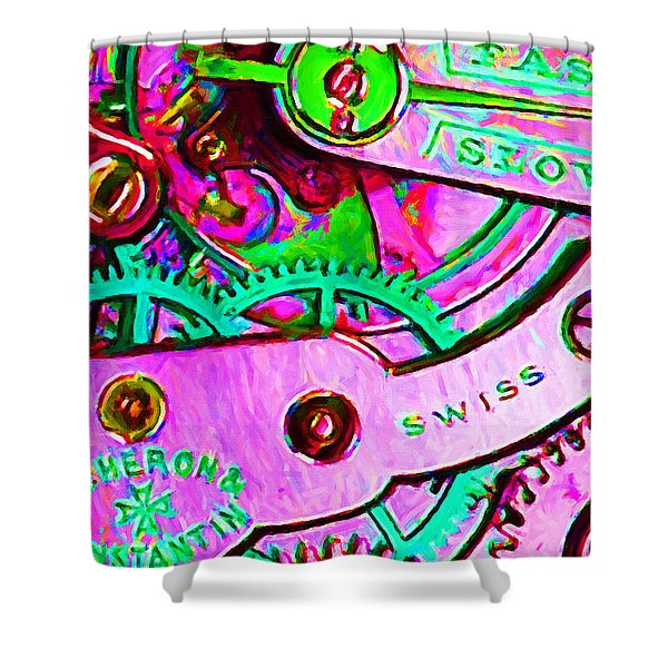 Time In Abstract 20130605p108 Shower Curtain by Wingsdomain Art and Photography