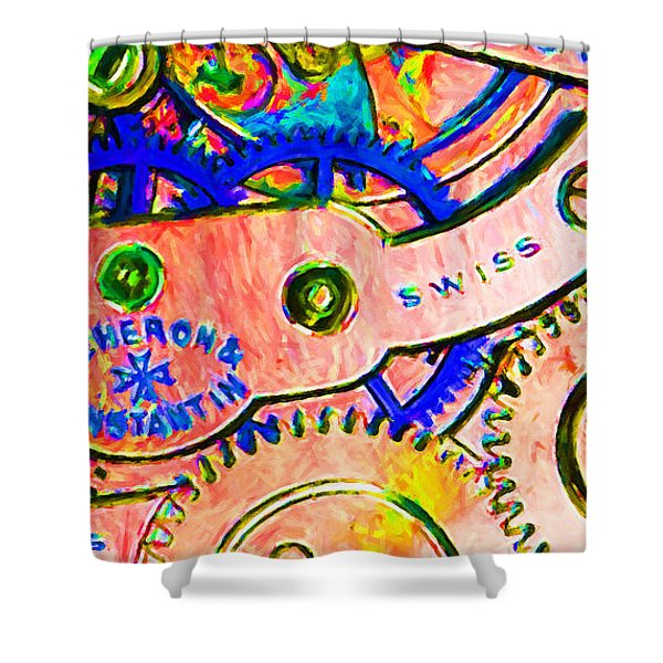 Time In Abstract 20130605p180 Long Shower Curtain by Wingsdomain Art and Photography