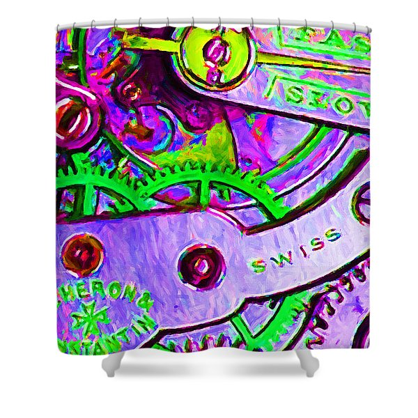 Time In Abstract 20130605p72 Shower Curtain by Wingsdomain Art and Photography