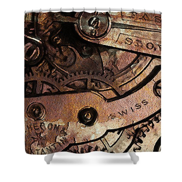 Time In Abstract 20130605rust Shower Curtain by Wingsdomain Art and Photography