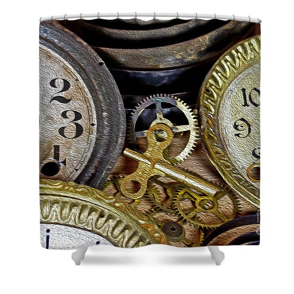 Time Long Gone Shower Curtain by Tom Gari Gallery-Three-Photography