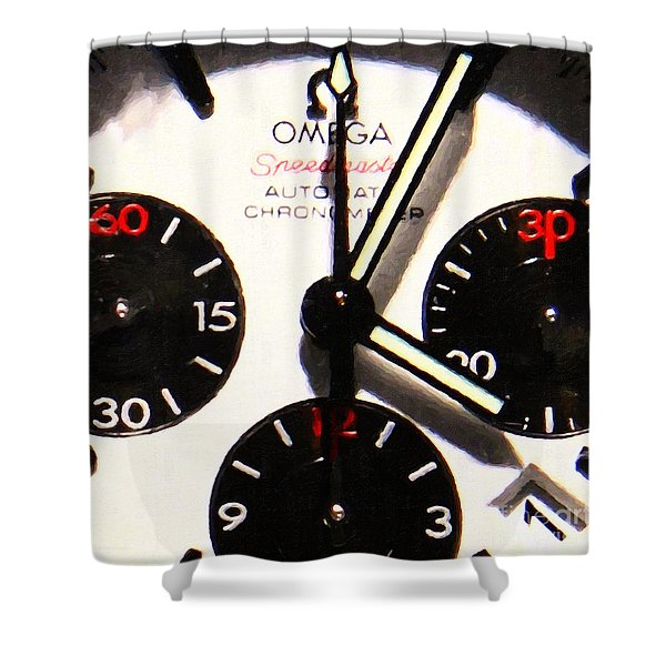 Time Piece - 5D20658 Shower Curtain by Wingsdomain Art and Photography