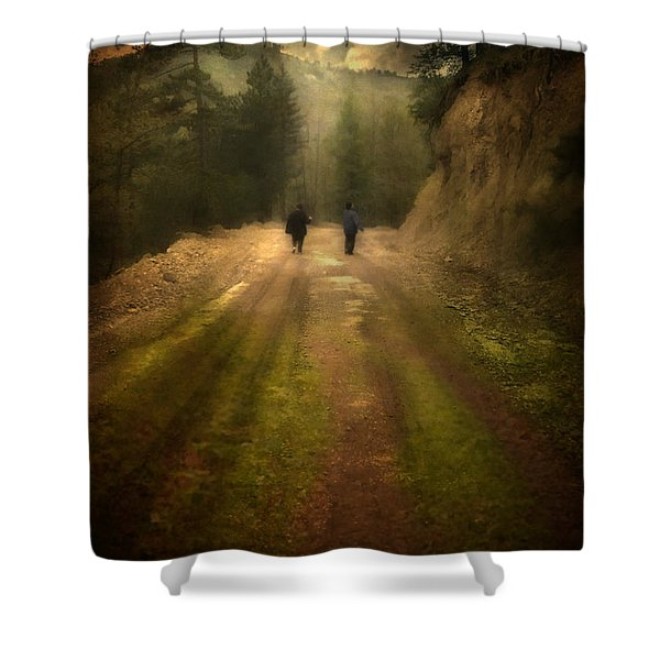 Time Stand Still Shower Curtain by Taylan Soyturk