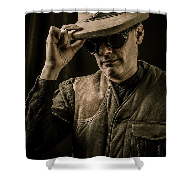 Time Traveler Shower Curtain by Edward Fielding