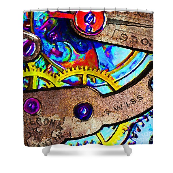 Time Waits For Nobody 20130605 Square Shower Curtain by Wingsdomain Art and Photography