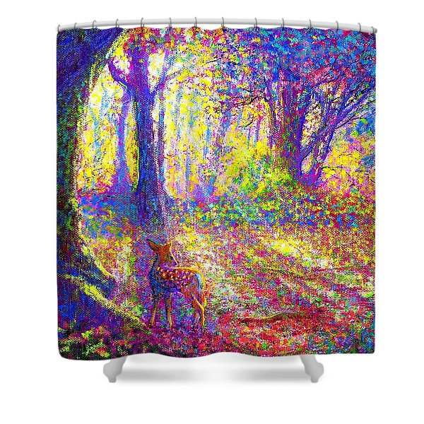 Dancing Shadows Shower Curtain by Jane Small