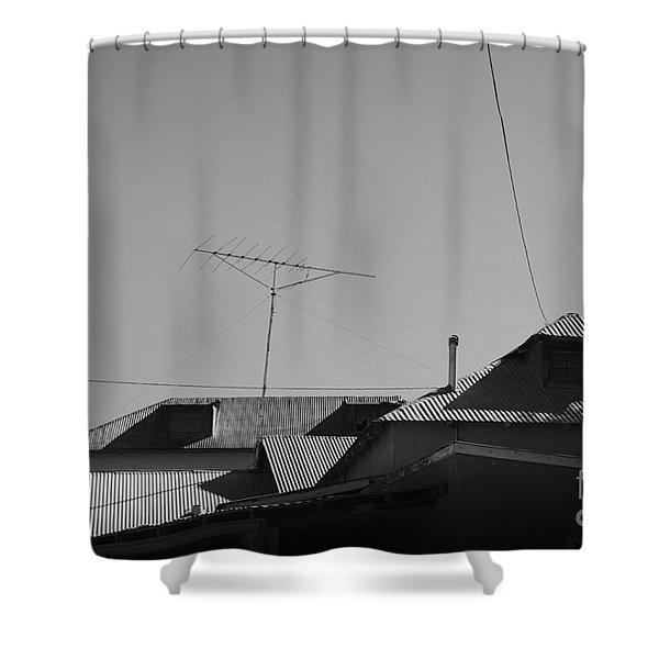 Tin Rooftops Chimayo New Mexico Shower Curtain by David Gordon