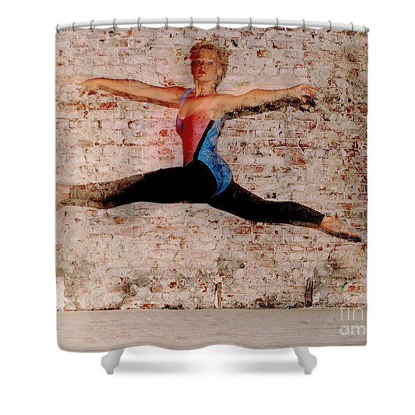 Tina Ballet Jump Shower Curtain by Gary Gingrich Galleries