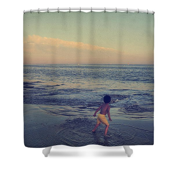 To Be Young Shower Curtain by Laurie Search