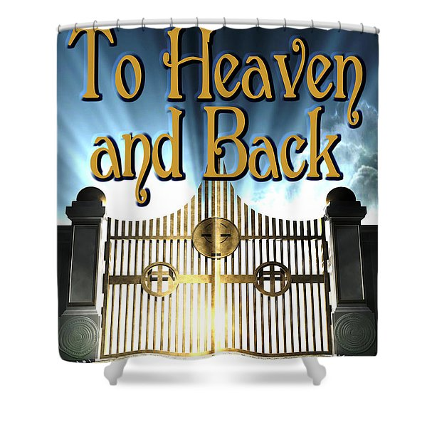 To Heaven And Back Book Cover Shower Curtain by Mike Nellums