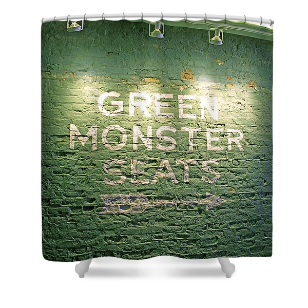 To the Green Monster Seats Shower Curtain by Barbara McDevitt