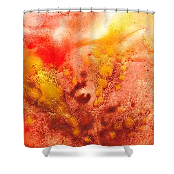 To The Unknown Abstract Path Number Three Shower Curtain by Irina Sztukowski
