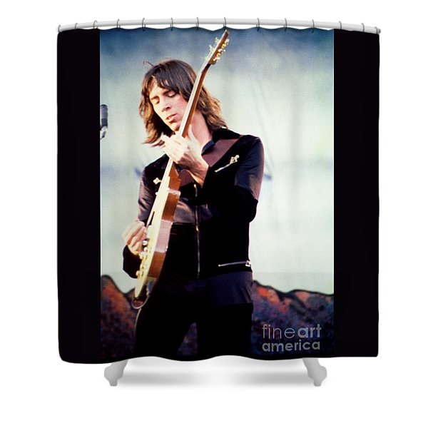 Tom Scholz of Boston-Day on the Green 1 in Oakland Ca 5-6-79 1st Release Shower Curtain by Daniel Larsen