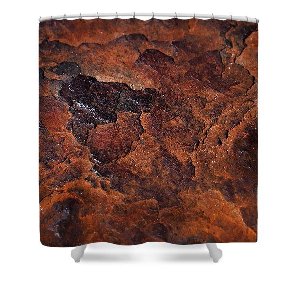 Topography Of Rust Shower Curtain by Rona Black