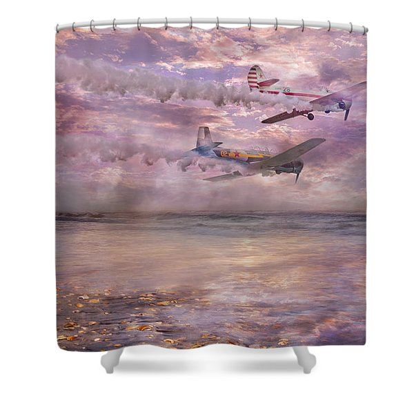 Topsail Flyers Shower Curtain by Betsy C  Knapp