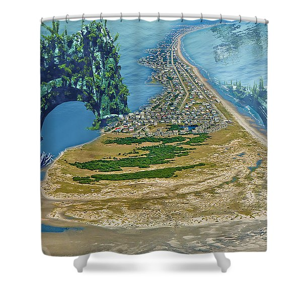 Topsail Island Betsy Cutler Shower Curtain by Betsy C  Knapp