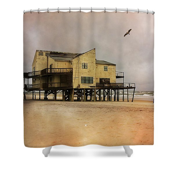 Topsail's Past II Shower Curtain by Betsy C  Knapp