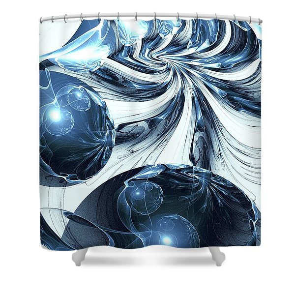 Total Internal Reflection Shower Curtain by Anastasiya Malakhova