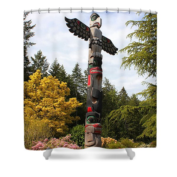 Totem Pole  Shower Curtain by Carol Groenen