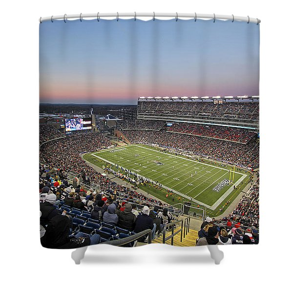 Touchdown New England Patriots  Shower Curtain by Juergen Roth