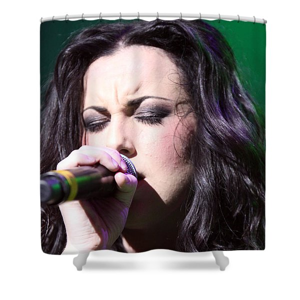 Touching Vocals Shower Curtain by Shoal Hollingsworth