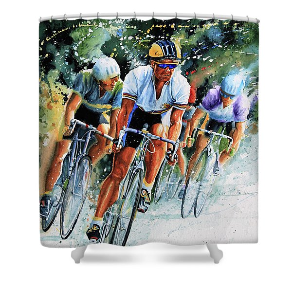 Tour de Force Shower Curtain by Hanne Lore Koehler