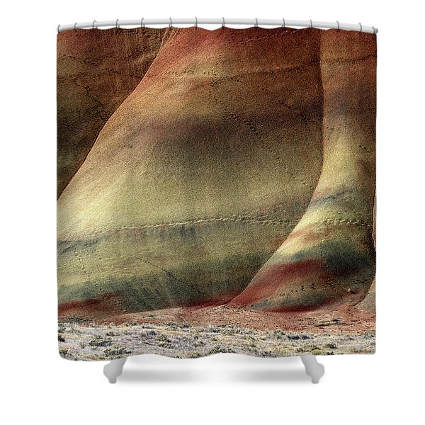 Traces Of Life Shower Curtain by Mike  Dawson