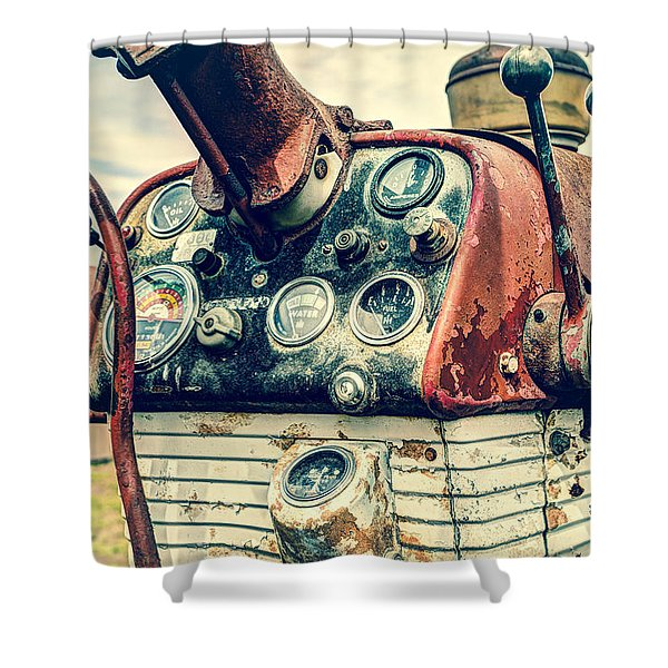Tractor Dash - Farmall 560 Diesel Shower Curtain by Gary Heller