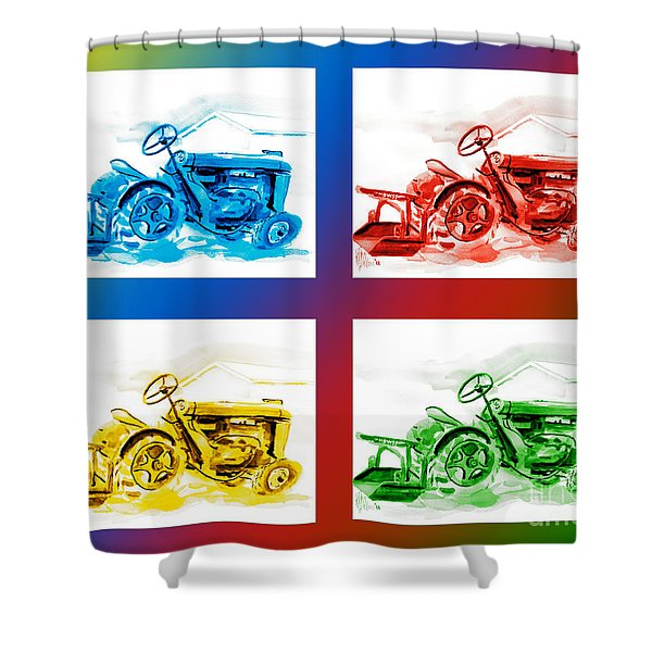 Tractor Mania III Shower Curtain by Kip DeVore