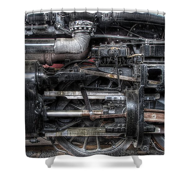 Train - Engine - 611 - Norfolk and Western - Built 1950 Shower Curtain by Mike Savad