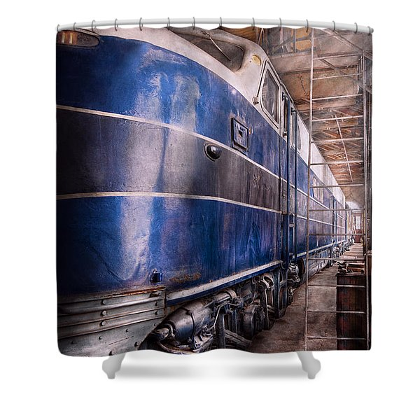 Train - The Maintenance Facility Shower Curtain by Mike Savad