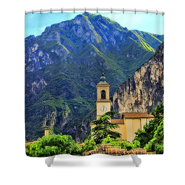 Tranquil Landscape Shower Curtain by Mariola Bitner
