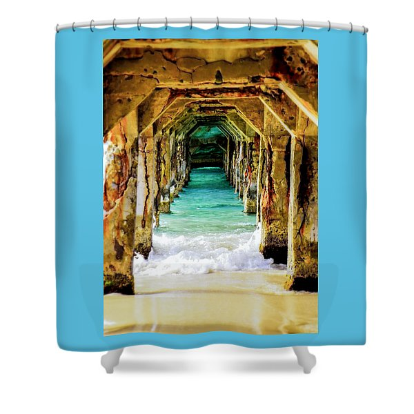TRANQUILITY BELOW Shower Curtain by KAREN WILES