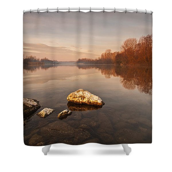 Tranquility Shower Curtain by Davorin Mance