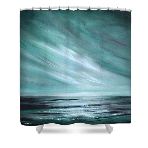 Tranquility Sunset Shower Curtain by Gina De Gorna