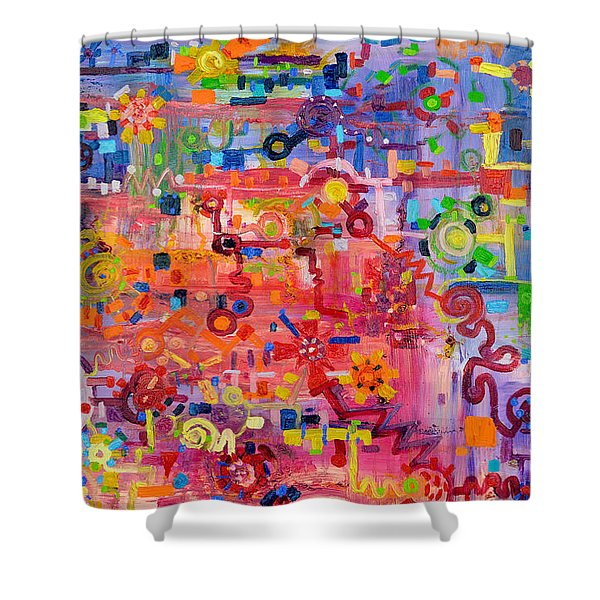 Transition To Chaos Shower Curtain by Regina Valluzzi