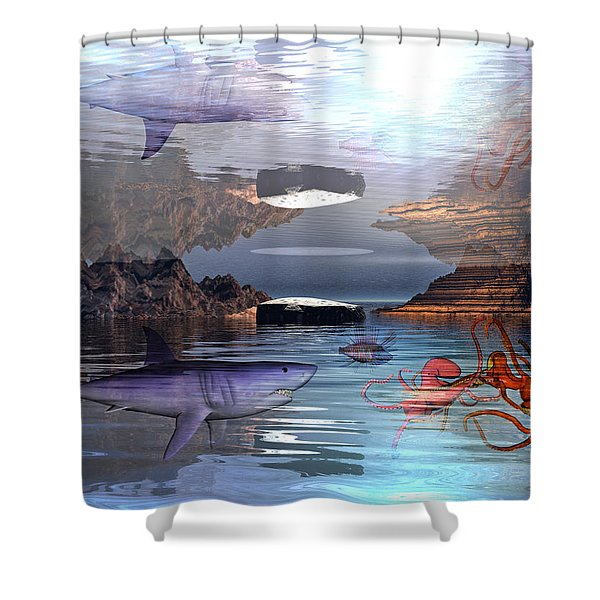 Translucent Interactions Shower Curtain by Betsy C  Knapp