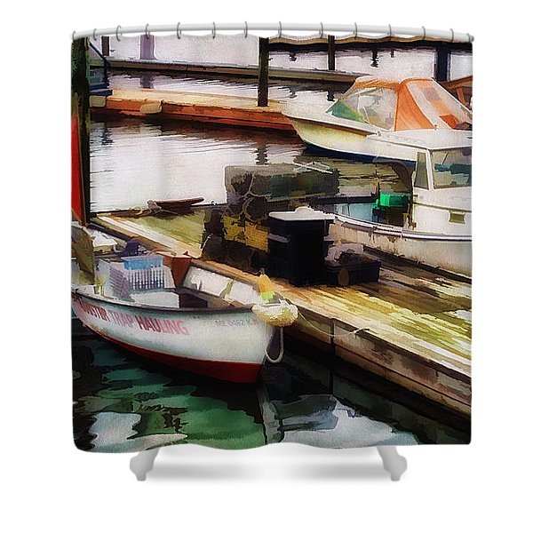 Trap Hauling Shower Curtain by Darren Fisher