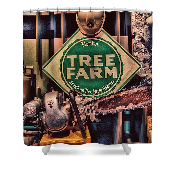 Tree Farm Shower Curtain by Todd and candice Dailey