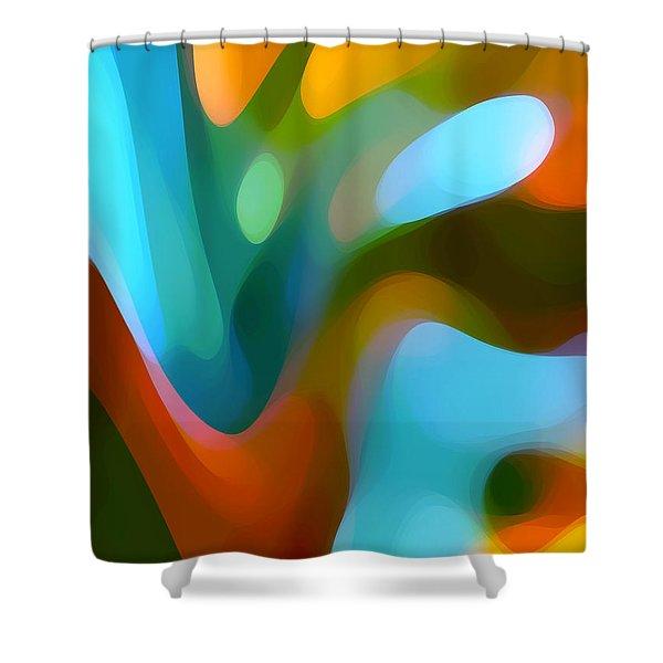Tree Light 3 Shower Curtain by Amy Vangsgard