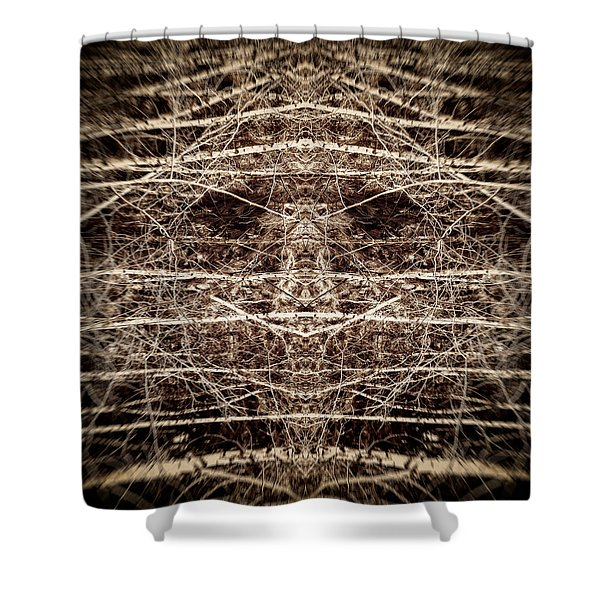 Tree Mask Shower Curtain by Wim Lanclus