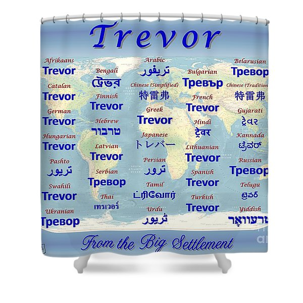 Trevor Shower Curtain by J McCombie