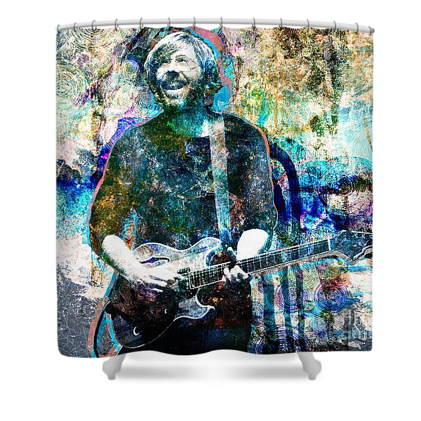 Trey Anastasio - Phish Original Painting Print Shower Curtain by Ryan RockChromatic