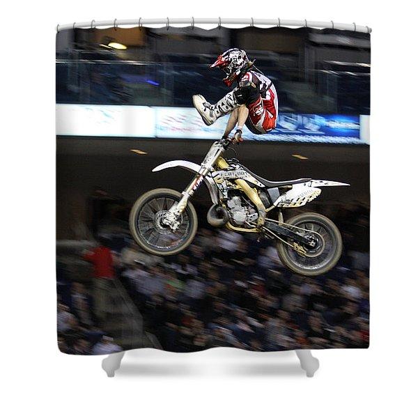 Trick Rider Shower Curtain by Karol  Livote