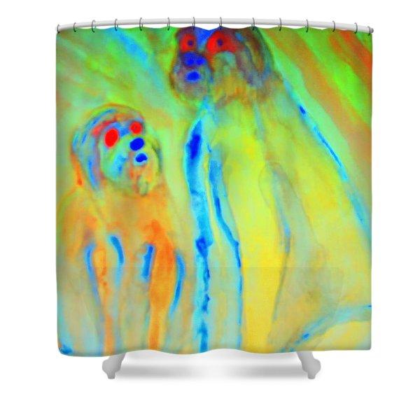 Trolls Are Dangerous Shower Curtain by Hilde Widerberg