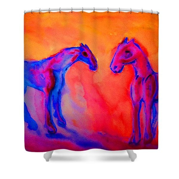 trolls pack  Shower Curtain by Hilde Widerberg