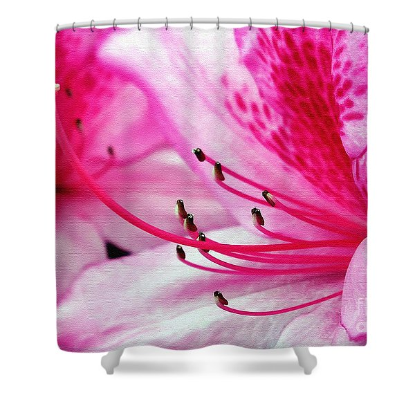 Tropical Azalea Shower Curtain by Kaye Menner