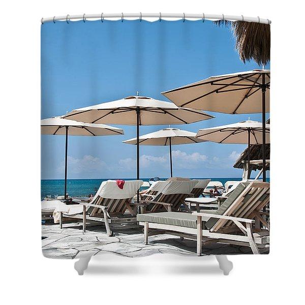 Tropical Beach Luxury Paradise Shower Curtain by Valerie Garner